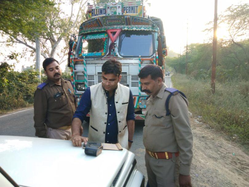 परिवहन विभाग की बड़ी कार्रवाई, चेकिंग अभियान चलाते हुए कई वाहनों के किए गए चालान
