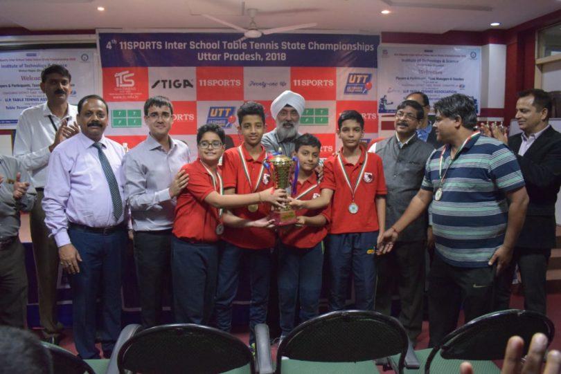 आईटीएस मोहन नगर में चौथी एकादश स्पोर्टस इण्टर स्कूल टेबल टेनिस स्टेट चैंपियनशिप का समापन