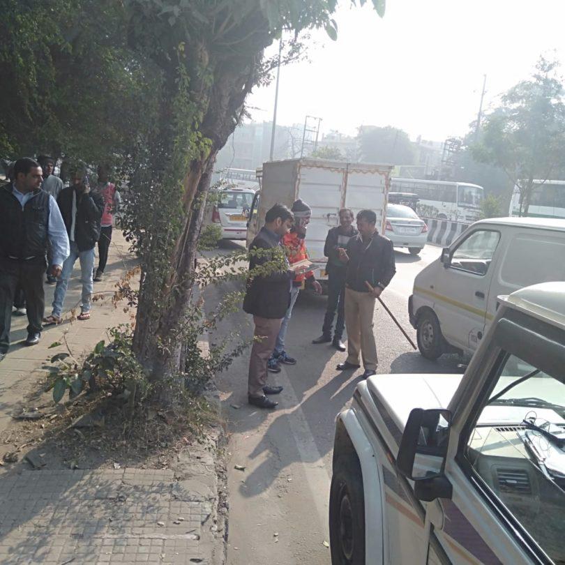 परिवहन विभाग ने अभियान चलाकर 18 वाहनों के खिलाफ की कार्यवाही
