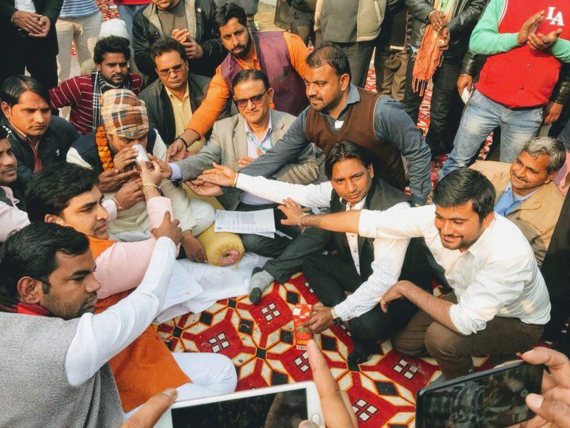 करप्शन फ्री इंडिया संगठन का ग्रेटर नोएडा प्राधिकरण के खिलाफ चल रहा आमरण अनशन हुआ समाप्त