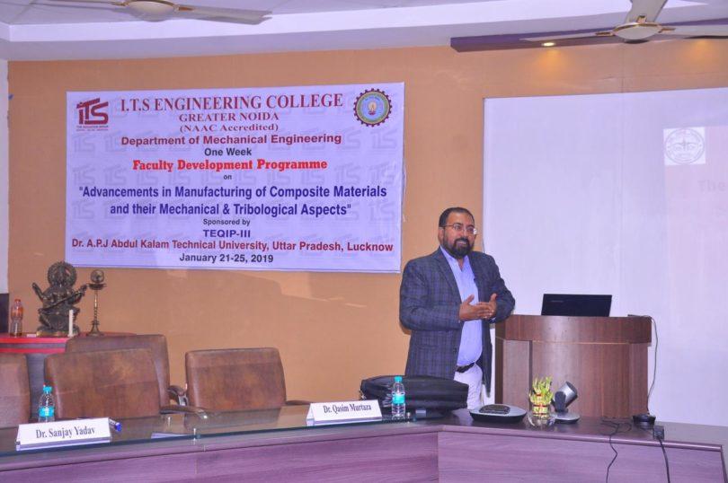आईटीएस इंजीनियरिंग कॉलेज में शिक्षक विकास कार्यक्रम का आयोजन