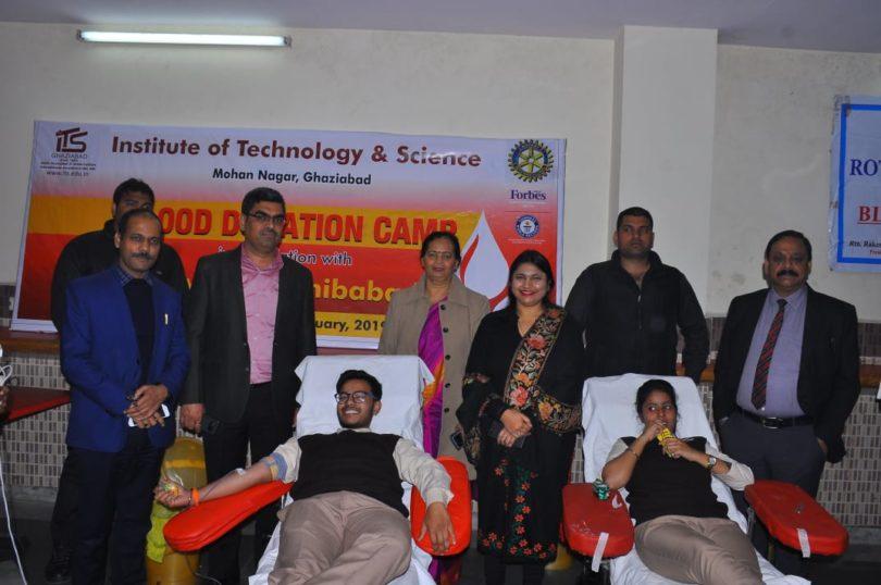 आईटीएस कॉलेज मोहन नगर में 'रक्तदान शिविर' का आयोजन