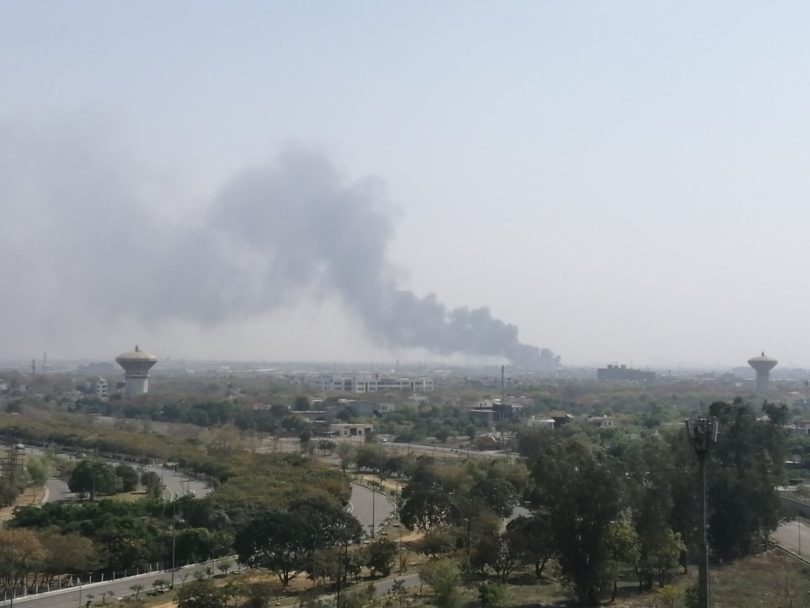 साइट-5 में थर्माकोल की कंपनी में लगी भीषण आग